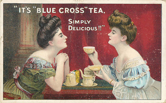 Advertising Postcard - Blue Cross Tea