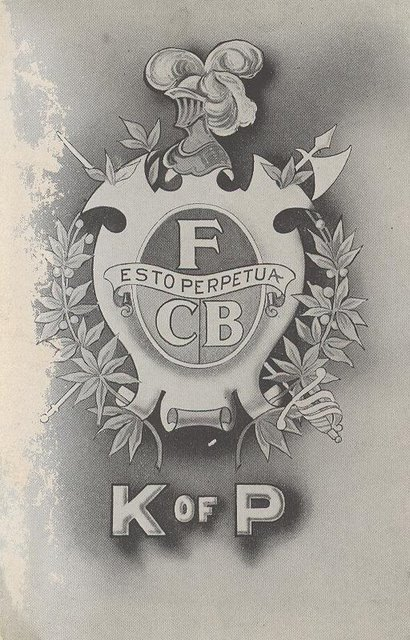 K of P F Esto Perpetua CB Club Postcard