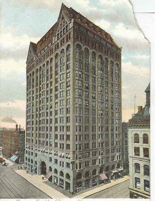 1570 Masonic Temple Chicago IL Club Postcard