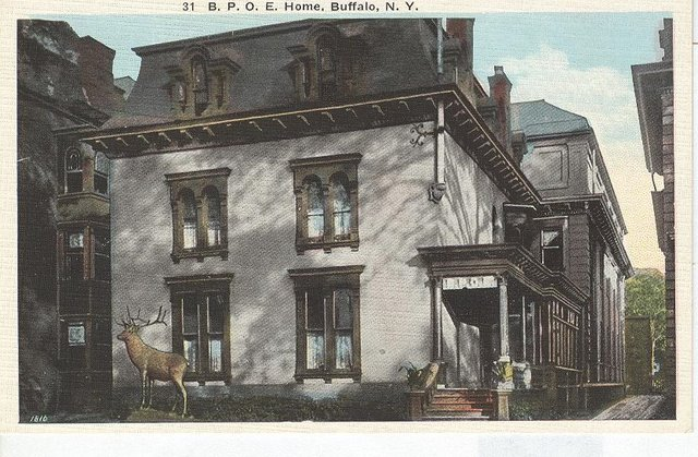 B.P.O.E. Home Buffalo, NY Club Postcard