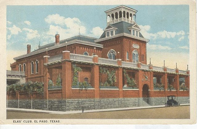 ELKS Club El Paso Texas Club Postcard
