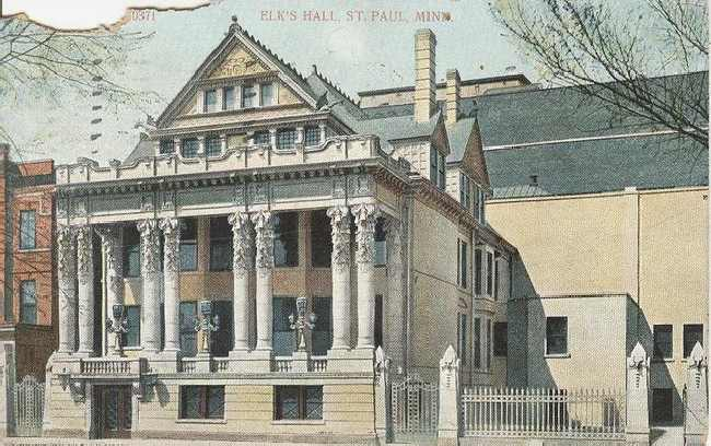 Elks Hall St. Paul MN Club Postcard