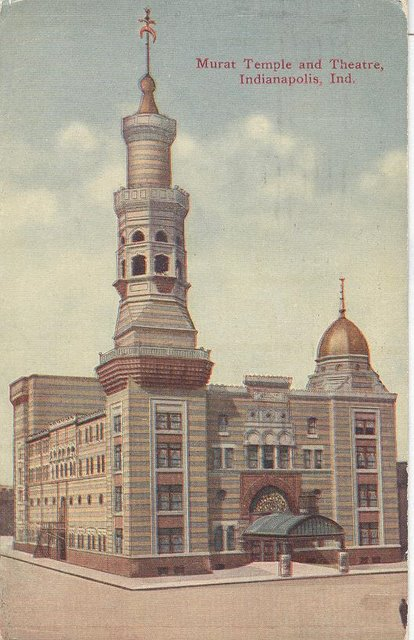 Murat Temple and Theatre Indianapolis, Indiana Postcard