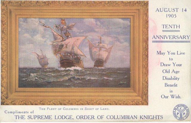 Order of Columbian Knights CPP Club Postcard