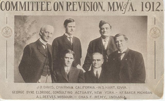 Committee on Revision M.W.ofA. 1912 Club Postcard