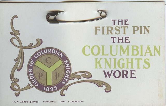The First Pin The Colombian Knights Wore Club Postcard