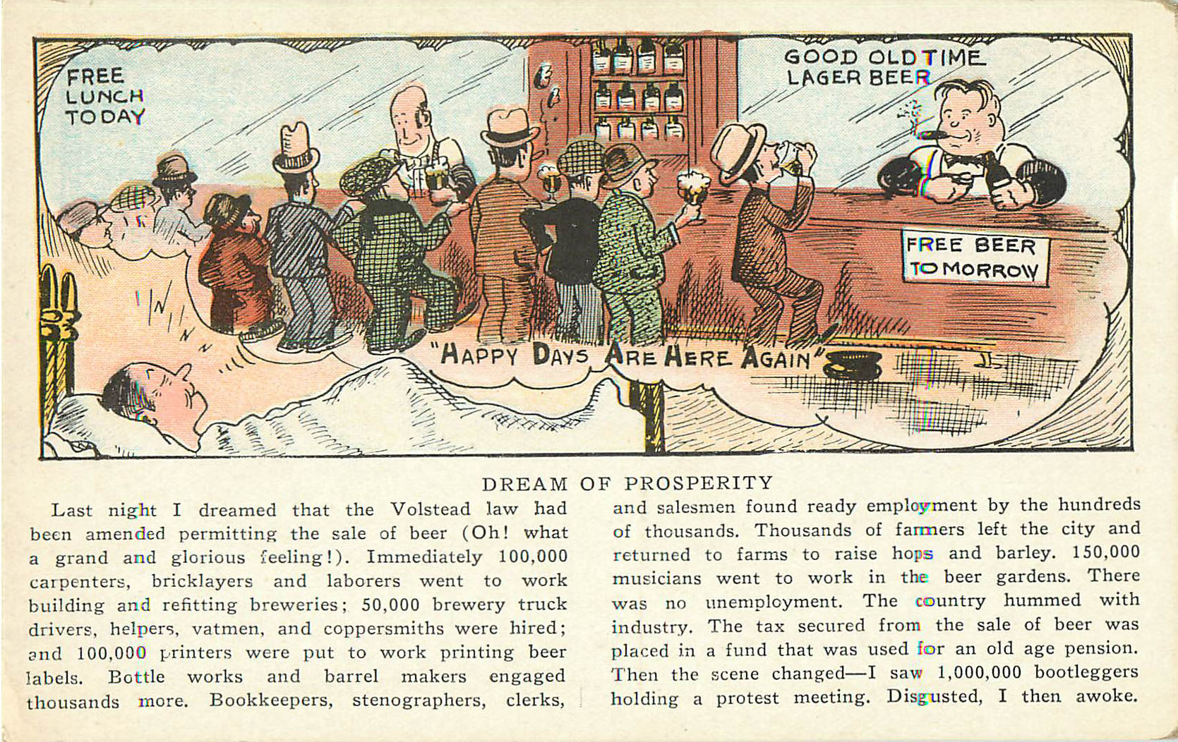 Alcohol Postcard - Dream of Prosperity
