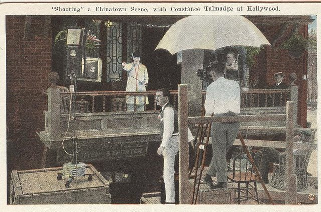 """Shooting"" a Chinatown Scene, with Constance Talmadge"
