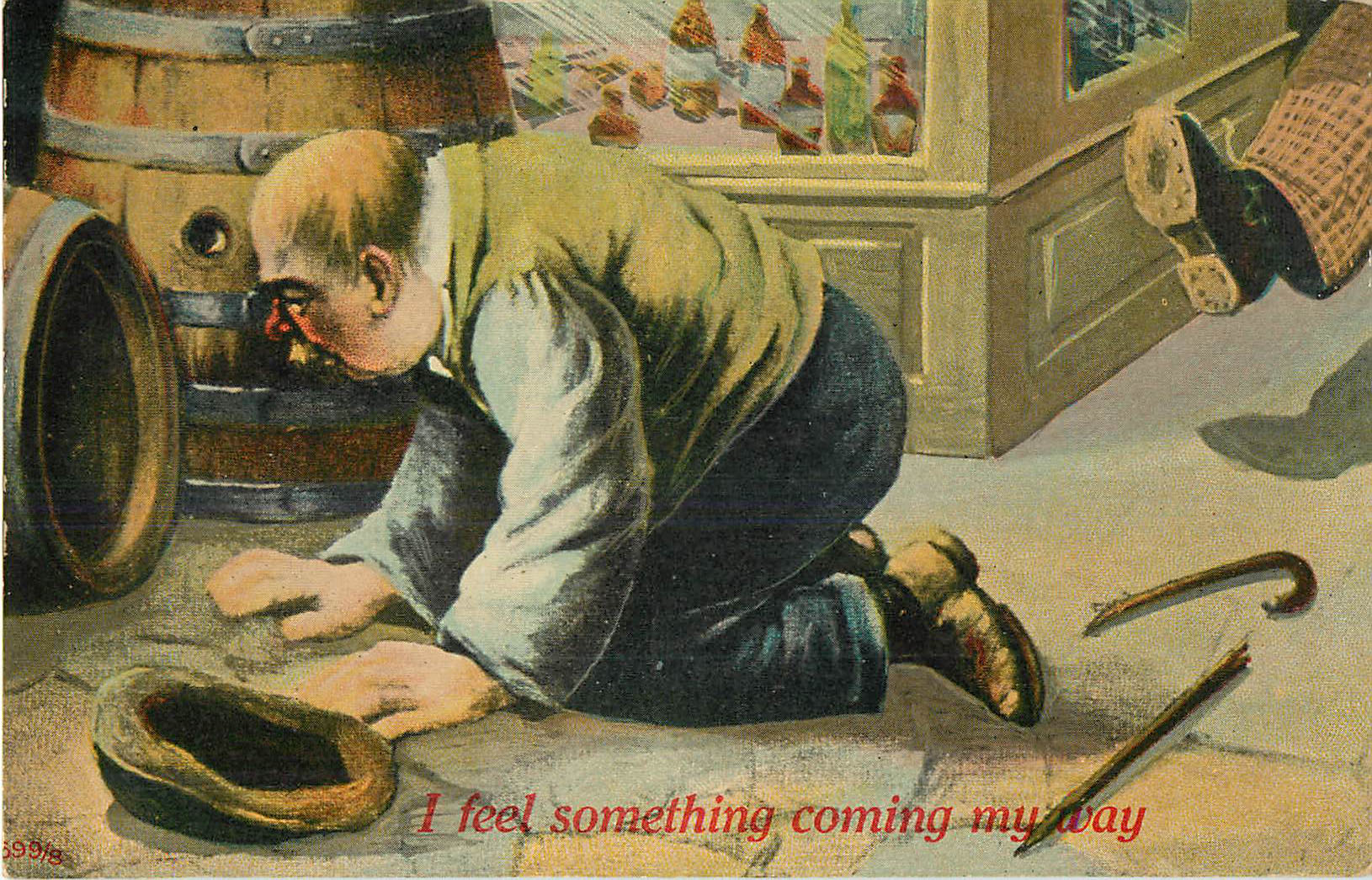 Alcohol Postcard - I Feel Something Coming My Way
