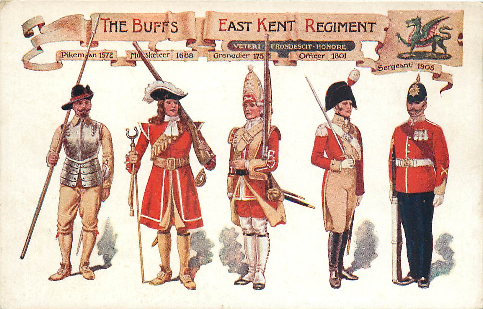 Officers of The Buffs East Kent Regiment