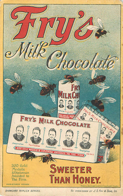 Advertising Postcard - Fry's Milk Chocolate