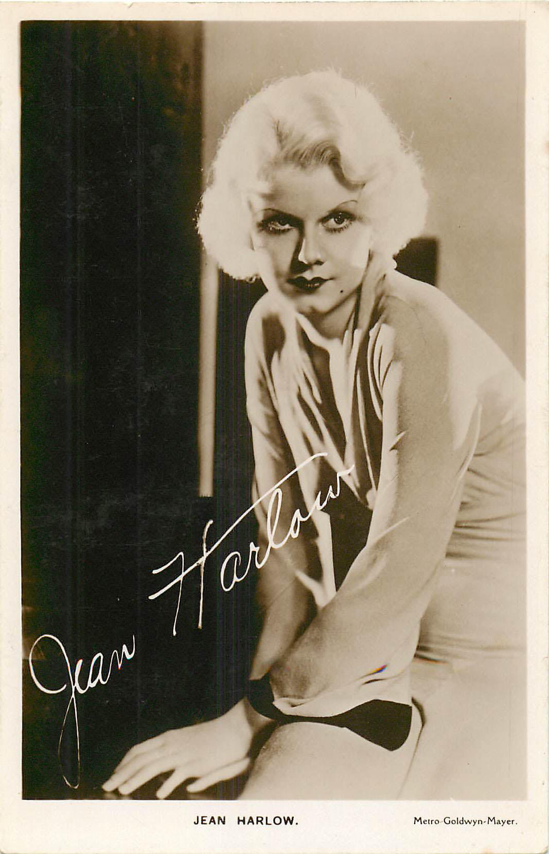 Jean Harlow - Signed Postcard