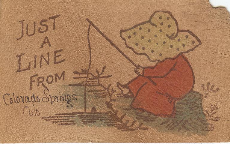 Just a Line From Colorado Springs Colo Postmarked 1907