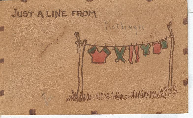 Just A Line Fron Kathryn Postmarked 1906