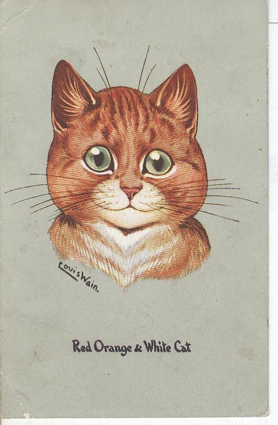 VINTAGE LOUIS WAIN CAT POSTCARD