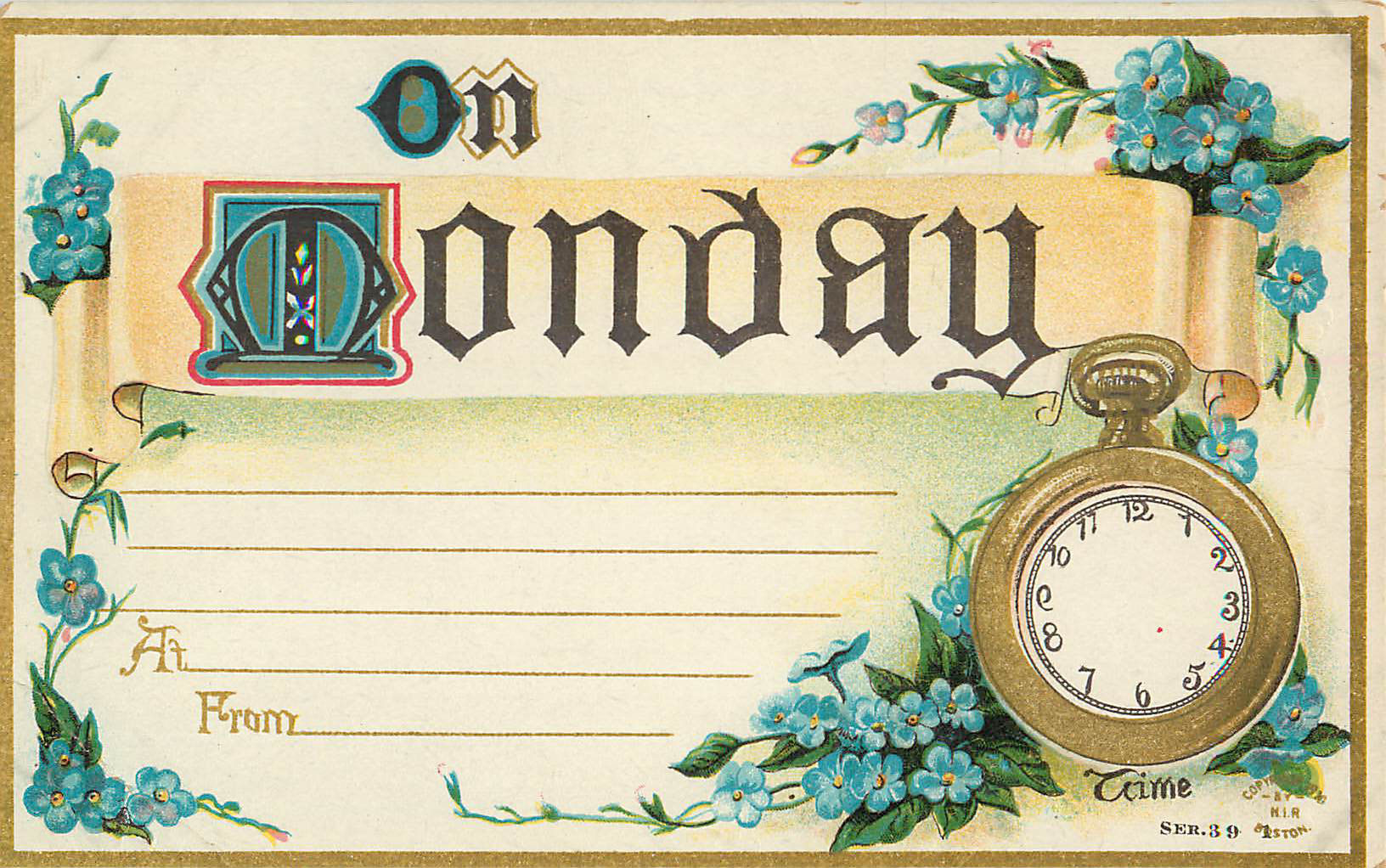 On Monday - Appointment Card