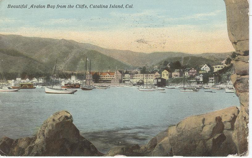 Avalon Bay from the Cliffs, Catalina Island, Cal.