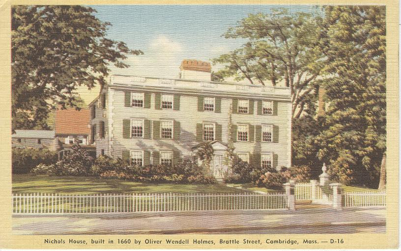 Nichols House by Oliver Wendell Holmes Cambridge Mass