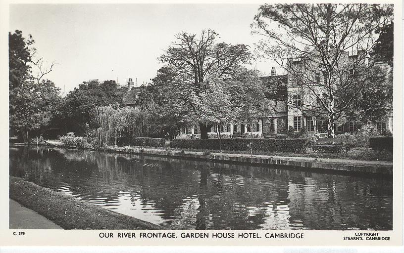 Our River Frontage, Garden House Hotel, Cambridge