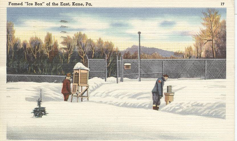 "Famed ""Ice Box"" of the East, Kane, Pa."