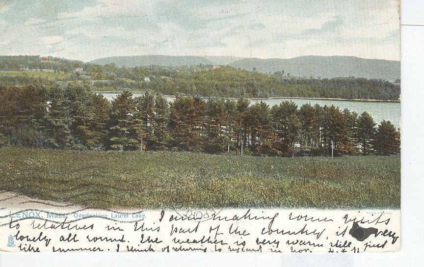 Lenox, Mass. Overlooking Laurel Lake.