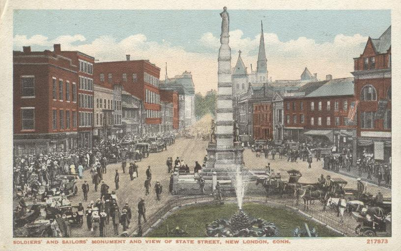 Soldiers and Sailors Monument & View of State Street