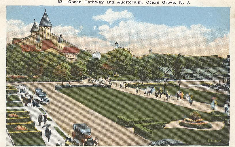 Ocean Pathway and Auditorium, Ocean Grove, N.J.