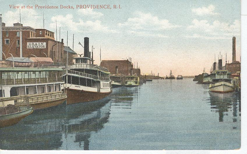 View at the Providence Docks, Providence, R.I.