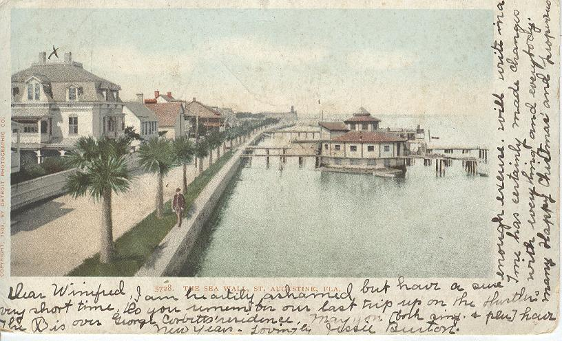 The Sea Wall, St. Augustine, Fla.