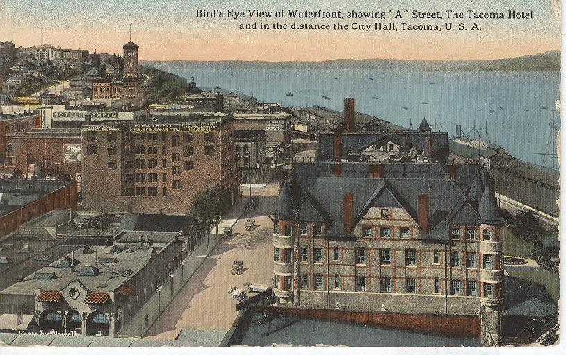 Bird's Eye View of Waterfront , Tacoma U.S.A.