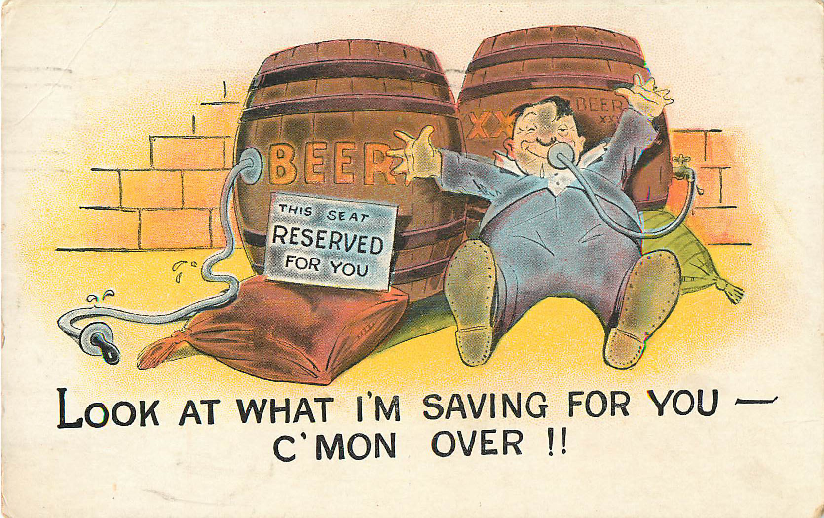 Alcohol Postcard - Look at What I'm Saving for You