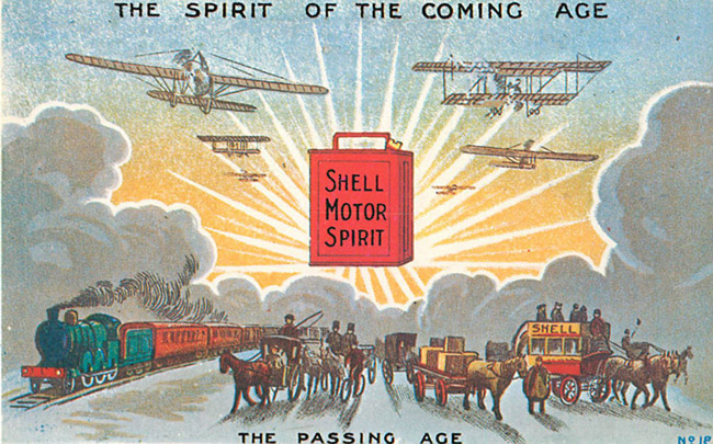 Advertising Postcard - The Spirit of the Coming Age - Shell