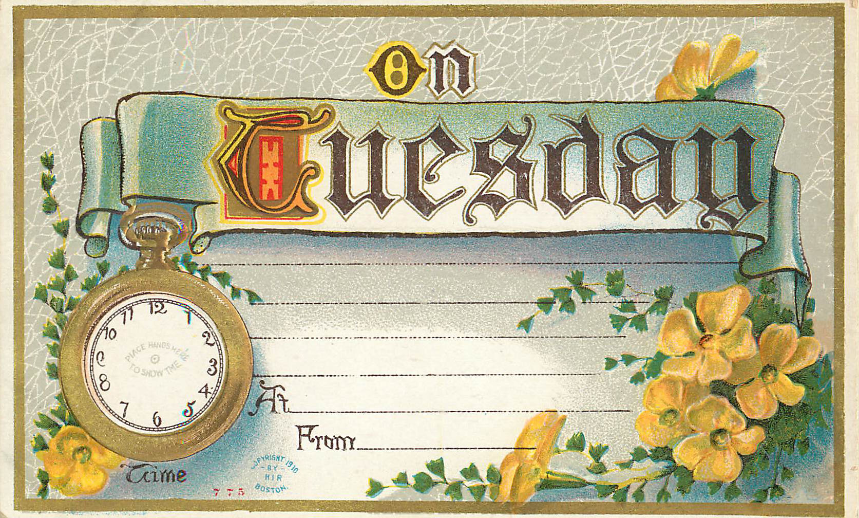 On Tuesday - Appointment Card