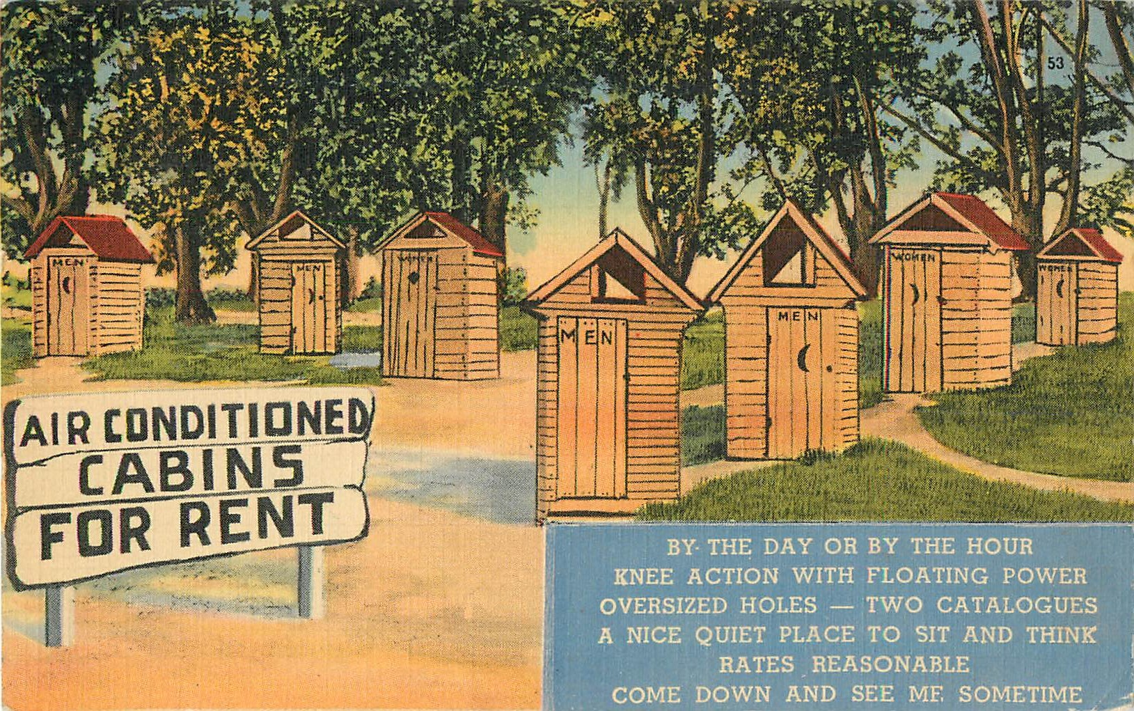 """Air Conditioned Cabins For Rent"" Color"