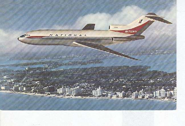 727 FAN JET National Airlines Postcard