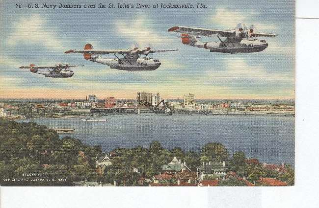 US Navy Bombers over St.Johns River at Jacksonville, Florida