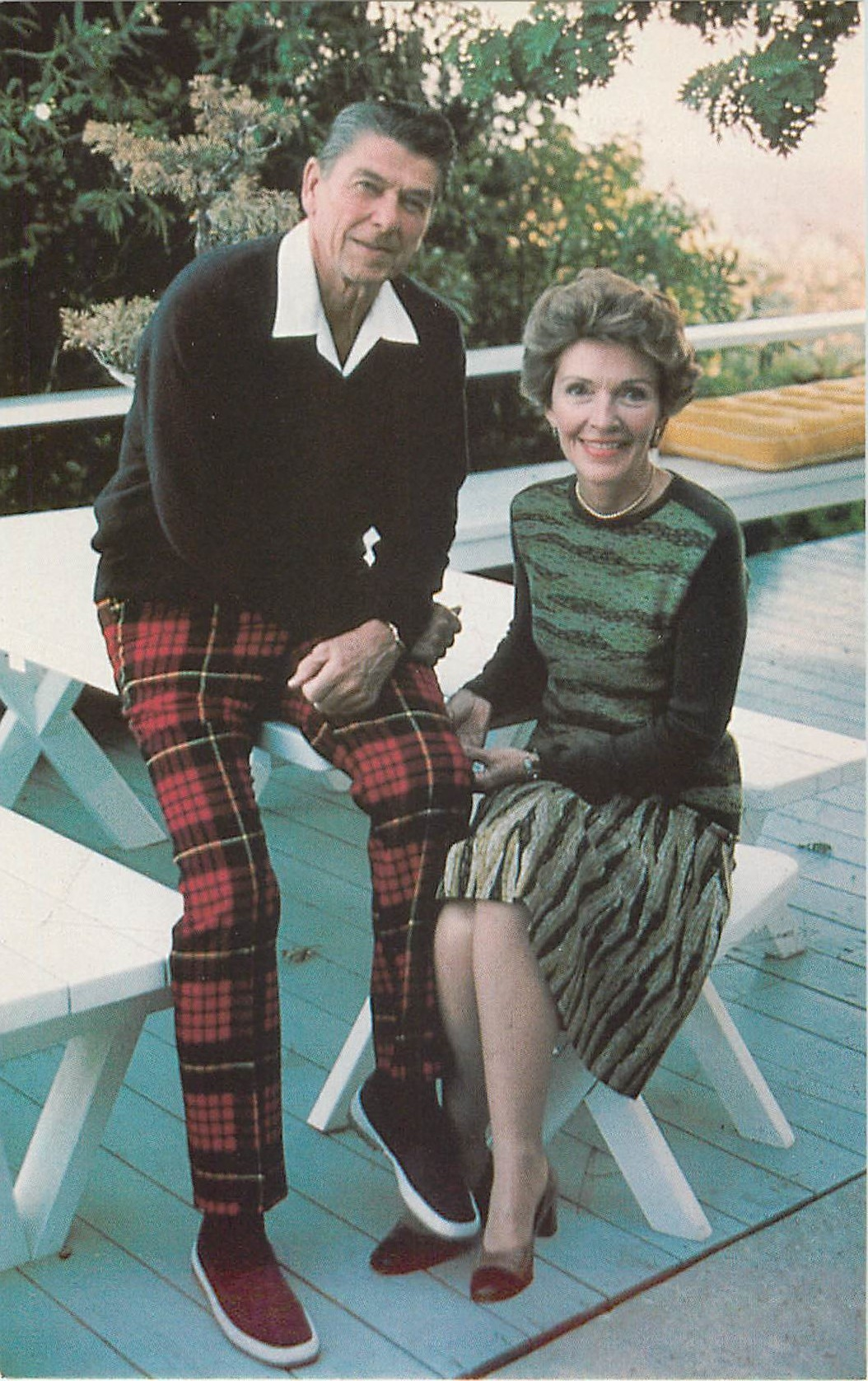 """Ronald and Nancy Reagan at Home"""