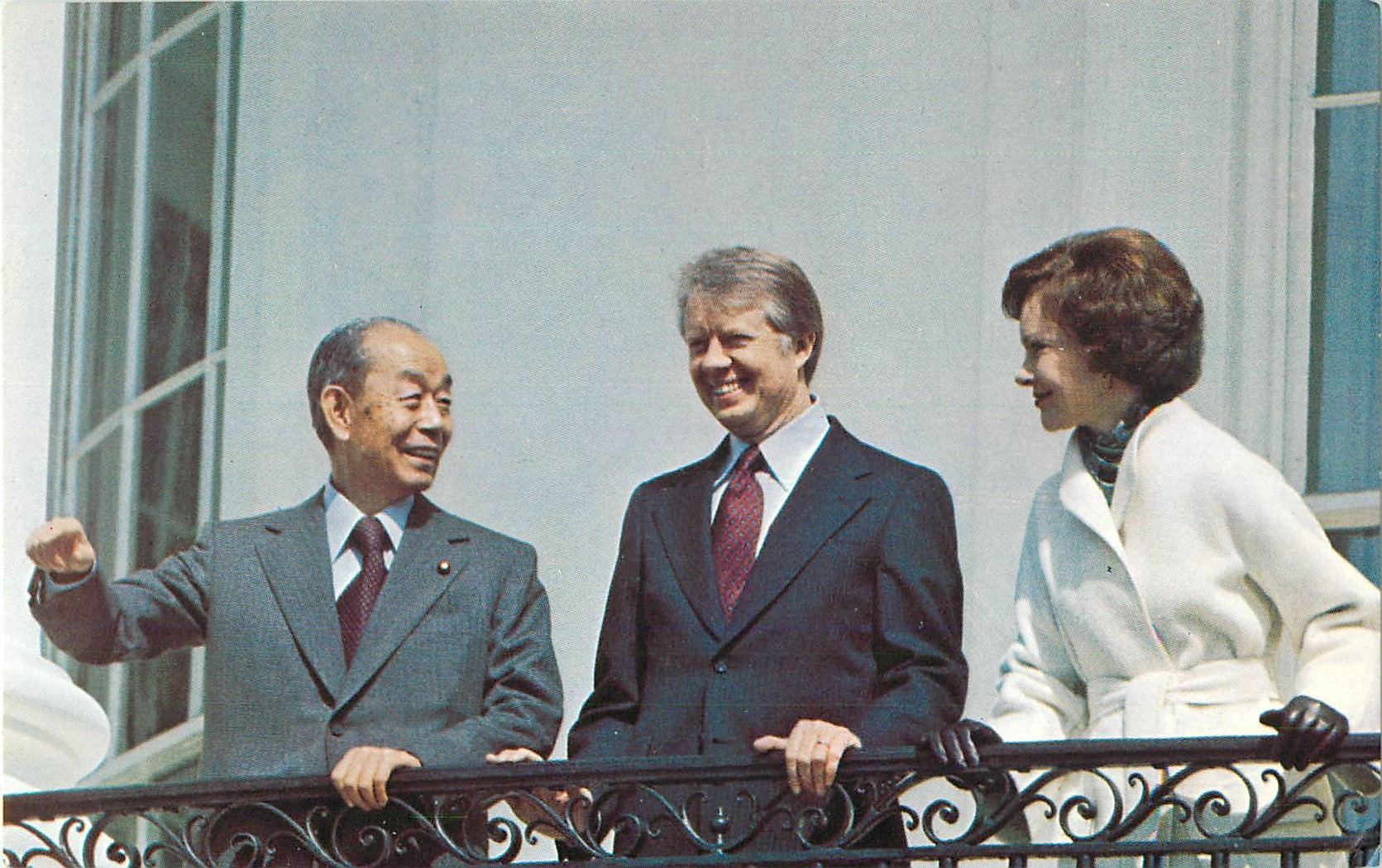 """Premier Fukuda and Jimmy Carter"""