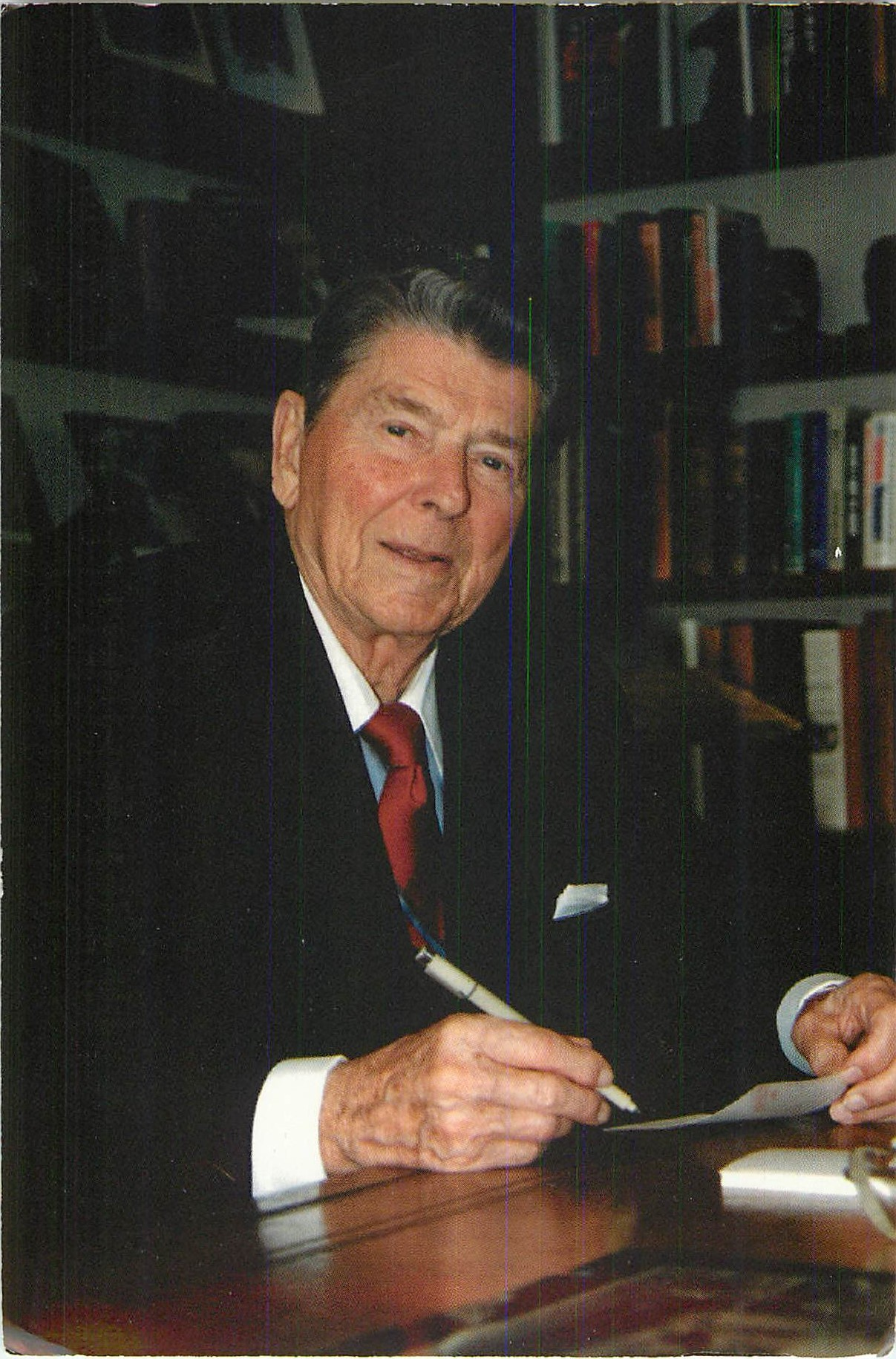 """Ronald Reagan at the Century City Office"""