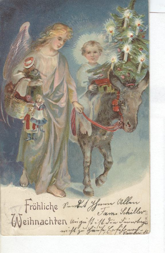 Christmas Greeting Postcard from GERMANY 1906