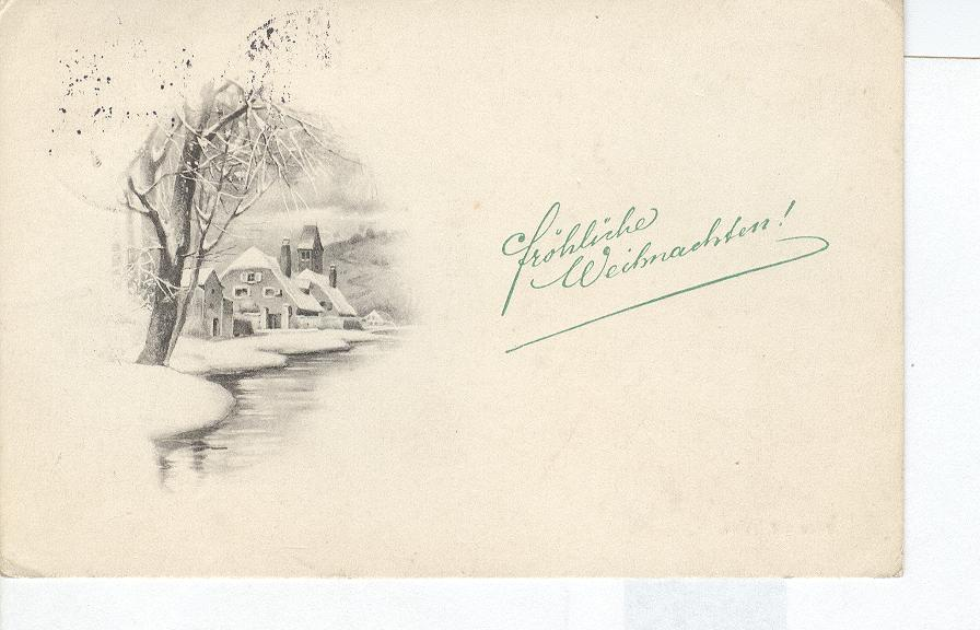 Christmas Greeting Postcard by the Chilled Water