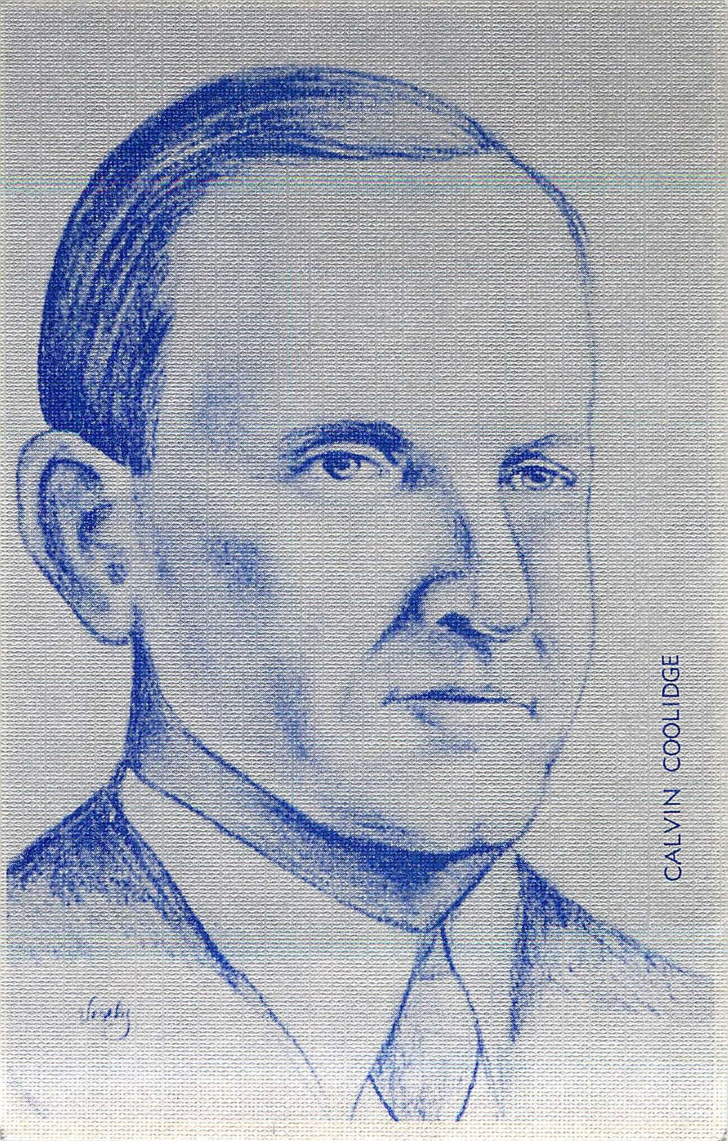 """Calvin Coolidge by Robin Vesely"""