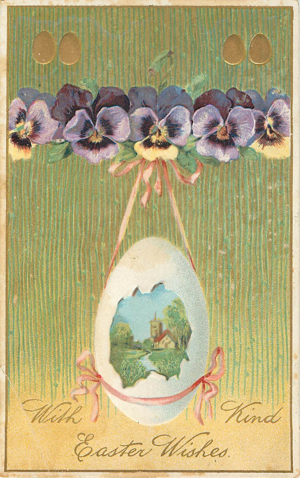 Kind Easter Wishes Pansy