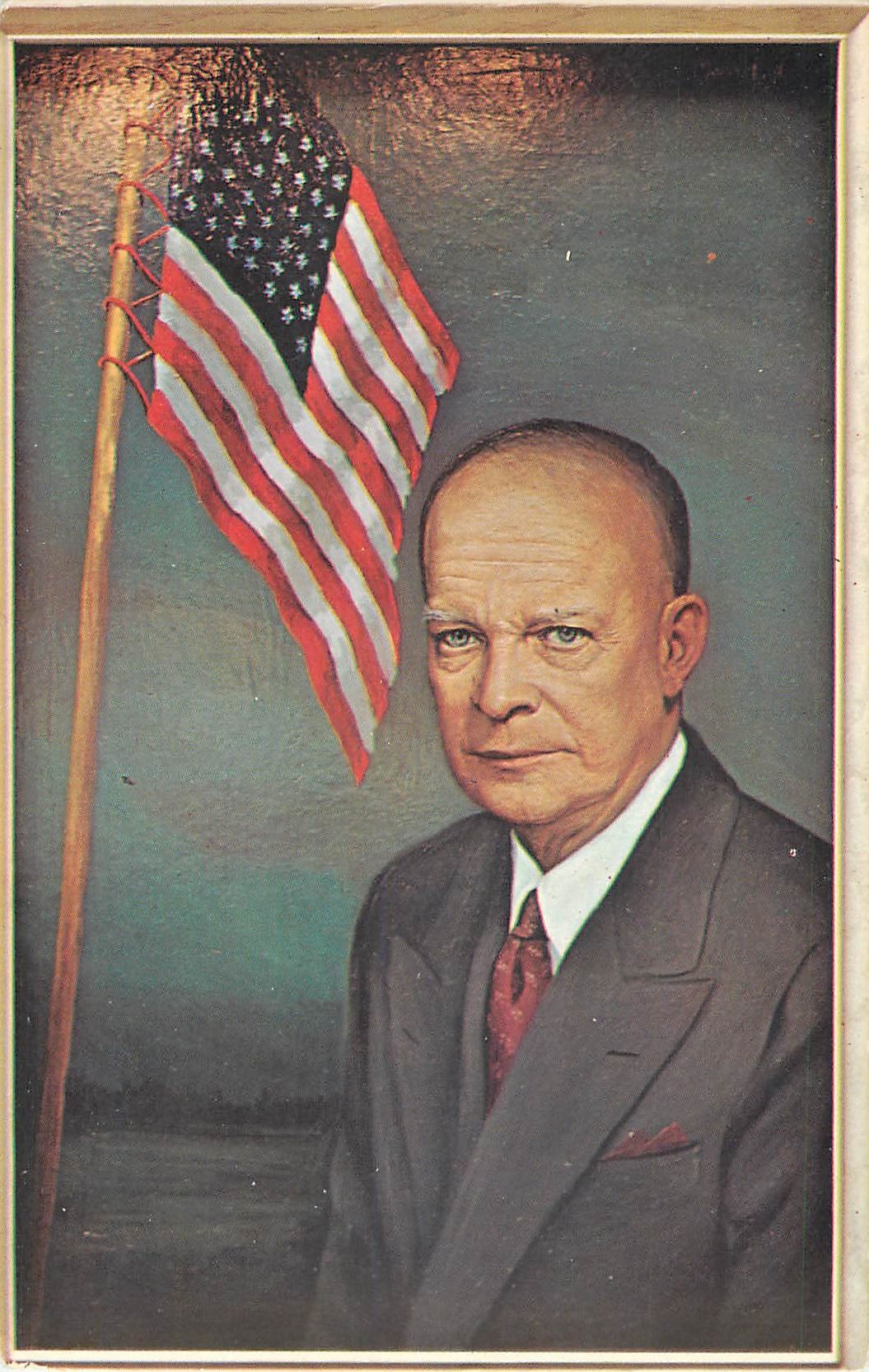 """President Eisenhower - painted by Morris Katz"""