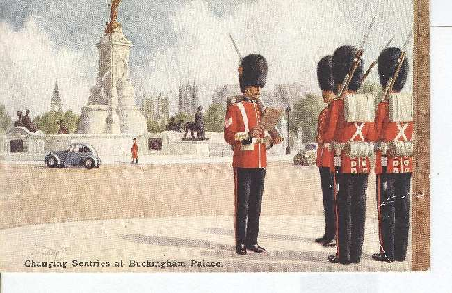 Changing Sentries at Buckingham Palace - Click Image to Close