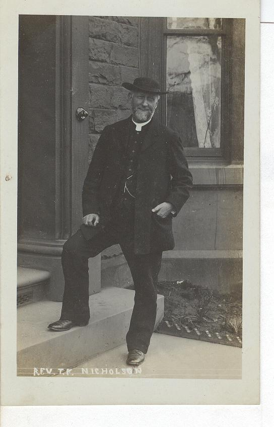 Rev. T.F. Nicholson Real Photo Postcard