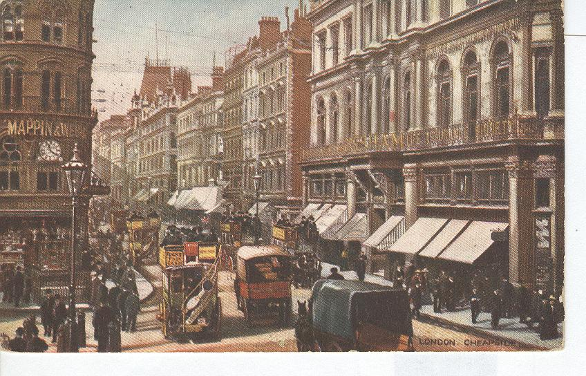 London, Cheapside Tucks Postcard