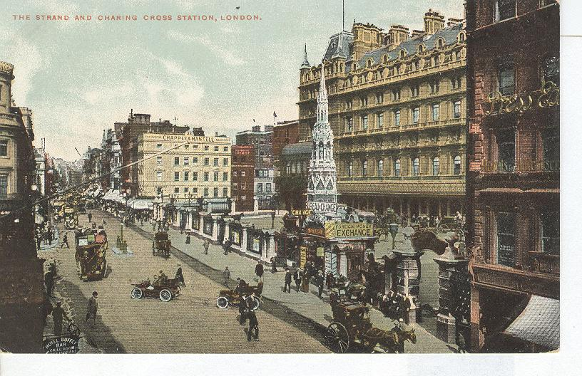The Strand And Charing Cross Station, London