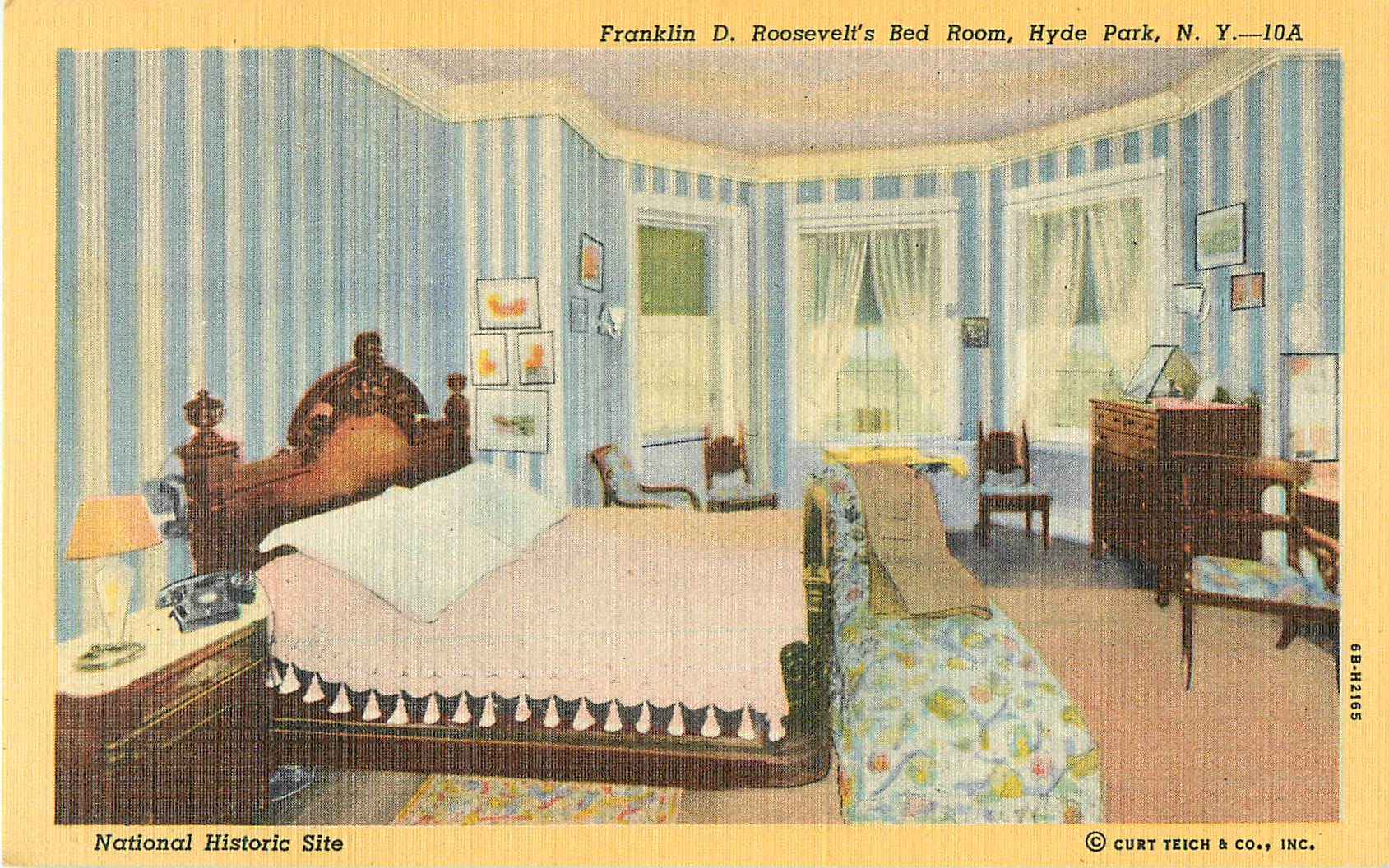 """Franklin D. Roosevelt's Bed Room"""