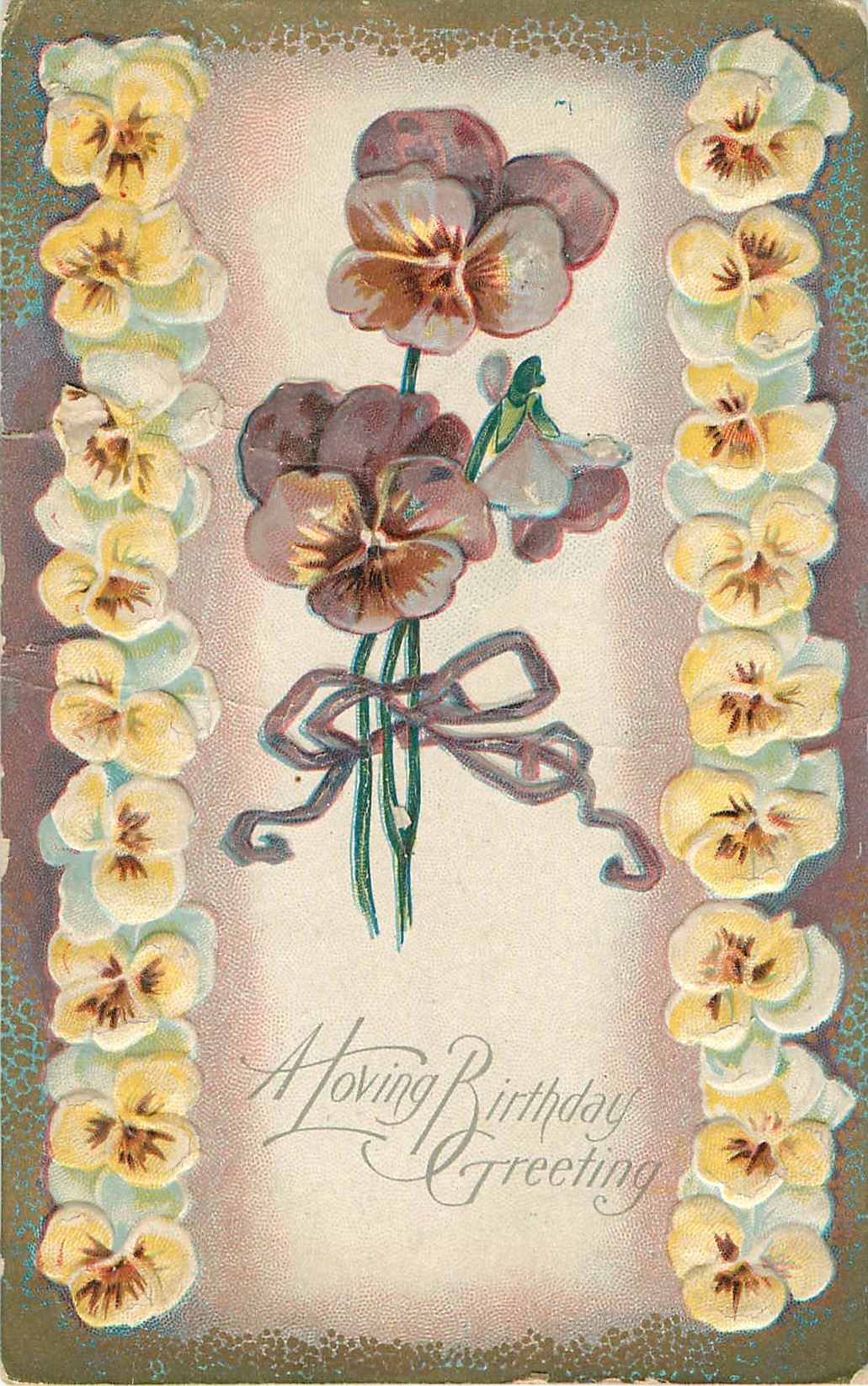 A Loving Birthday Greeting Pansy